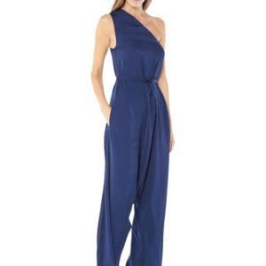 Stella McCartney Navy Blue One Shoulder Jumpsuit
